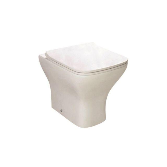 UK Bathrooms Essentials Bedern Back to Wall Toilet Suite