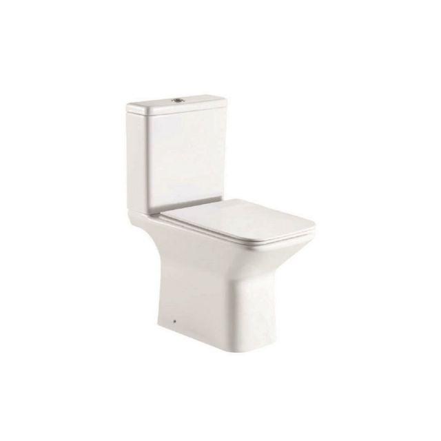 UK Bathrooms Essentials Cornbell Rimless Open Back Close Coupled Toilet Suite