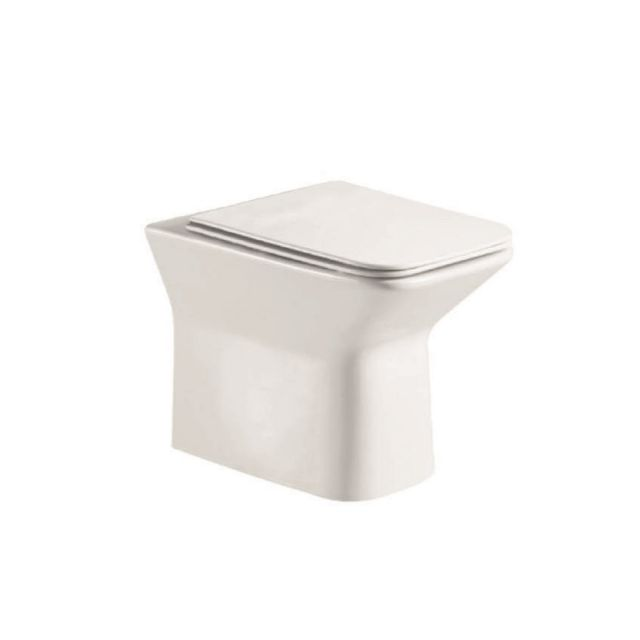 UK Bathrooms Essentials Cornbell Rimless Back to Wall Toilet Suite