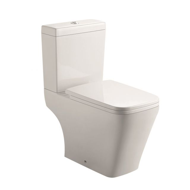UK Bathrooms Essentials Lickley Rimless Open Back Close Coupled Toilet Suite