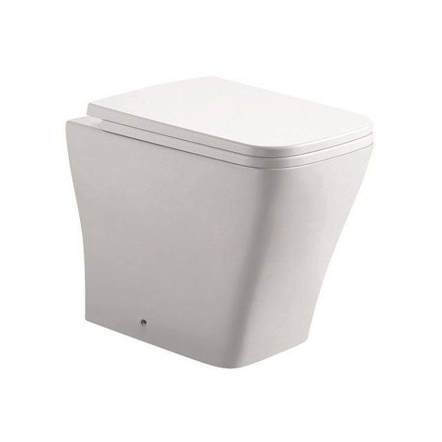 UK Bathrooms Essentials Lickley Back to Wall Toilet Suite