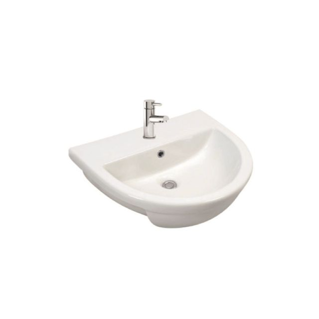 UK Bathrooms Essentials Bellman Semi Recessed Washbasin
