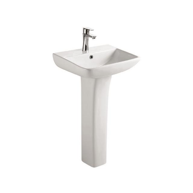 UK Bathrooms Essentials Lickley Washbasin with Full Pedestal