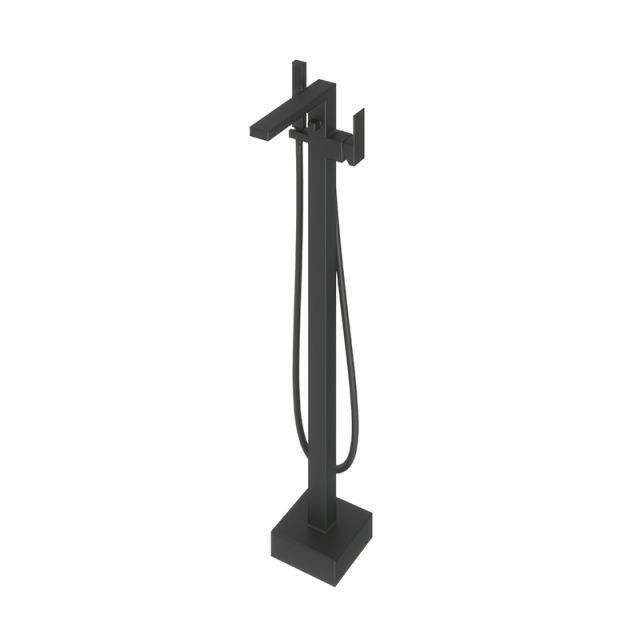 Abacus Plan Matt Black Free Standing Bath Shower Mixer Tap