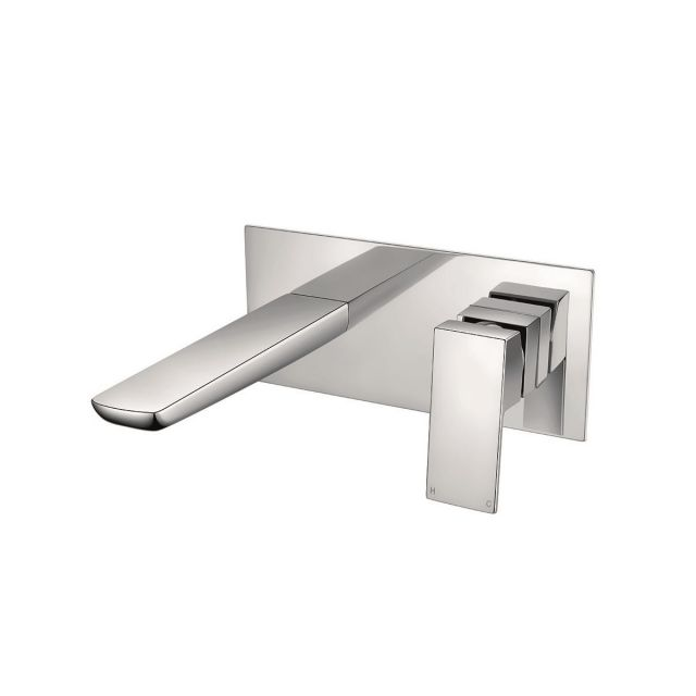 UK Bathrooms Essentials Stansfield Wall Mounted Basin Mixer Tap