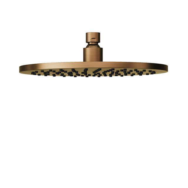 Abacus Emotion Brushed Bronze Round Fixed Shower Head