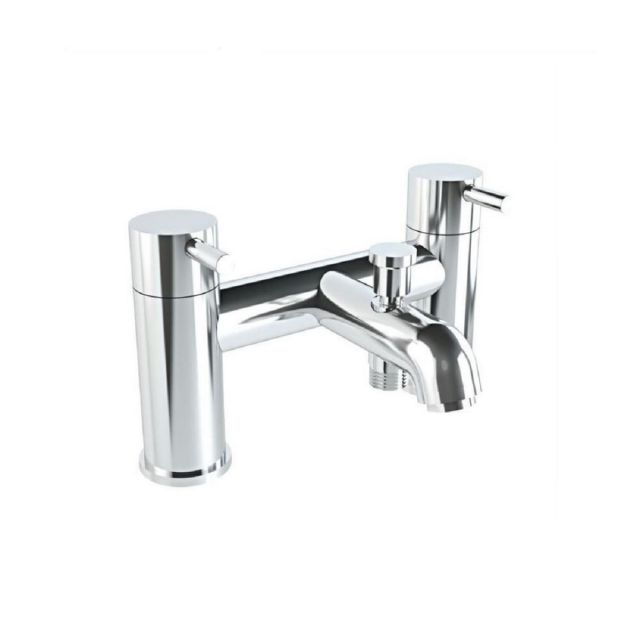 VitrA Minimax S 2-Tap Hole Chrome Bath Shower Mixer Tap