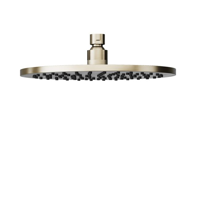 Abacus Emotion Brushed Nickel Round Fixed Shower Head