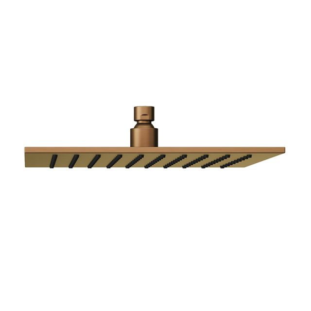Abacus Emotion Brushed Bronze Square Fixed Shower Head