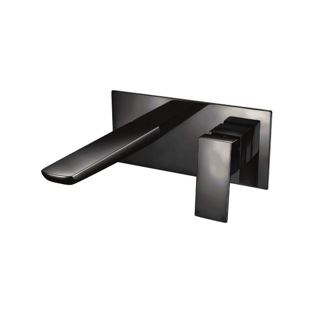 UK Bathrooms Essentials Kirkby Wall Mounted Basin Mixer Tap