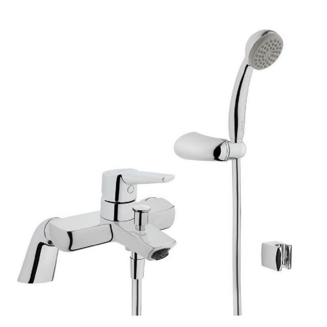 VitrA Solid S Chrome Bath Shower Mixer Tap with Shower kit - 42498