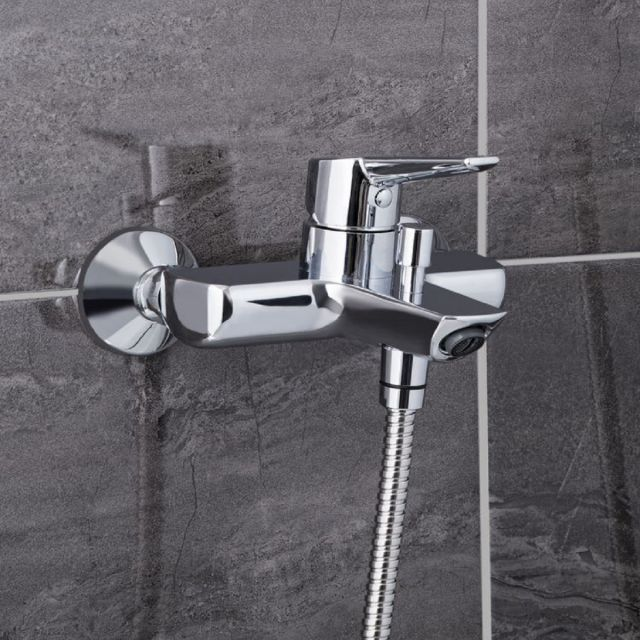 VitrA Solid S Wall-mounted Chrome Bath Shower Mixer Tap without Shower Kit - 42444