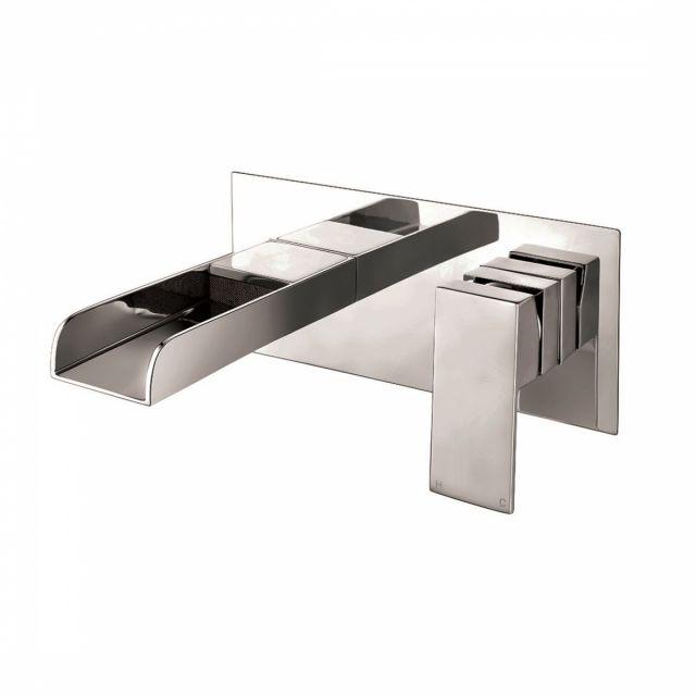 UK Bathrooms Essentials Durer Wall Mounted Basin Mixer Tap