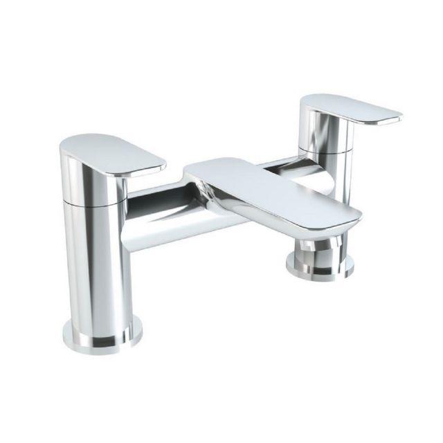 VitrA X Line Chrome 2 Tap Hole Bath Filler - 42415
