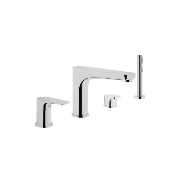 VitrA X Line Chrome 4 Hole Bath Shower Mixer Tap - 42530