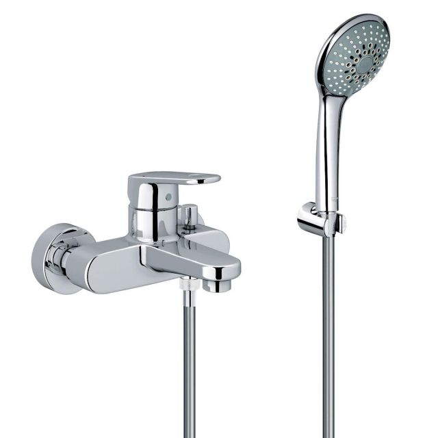 Grohe Europlus Single Lever Bath Shower Mixer Tap with Handshower Set - 33547002