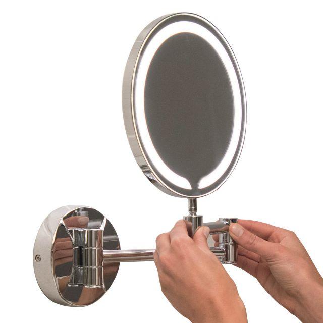 UK Bathrooms Essentials Cypress Round LED Make-Up Mirror - UKBESSM0001