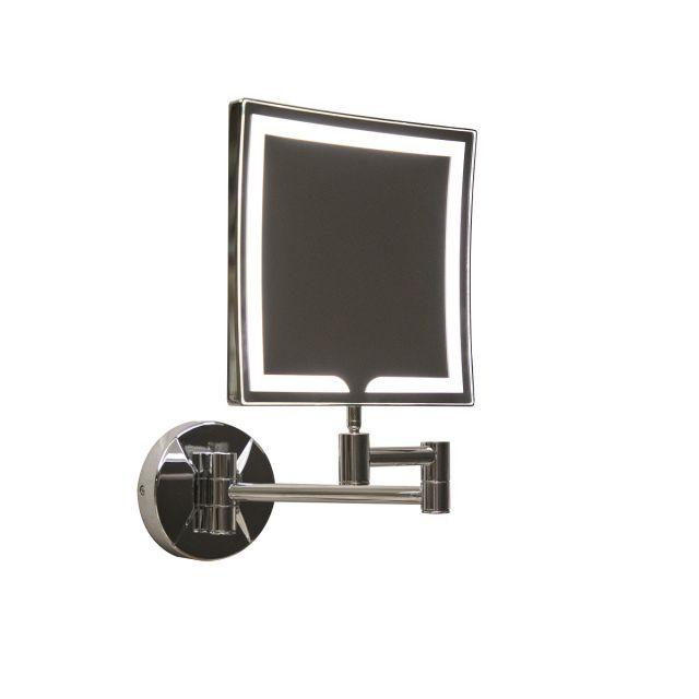 UK Bathrooms Essentials Cypress Square LED Make-Up Mirror