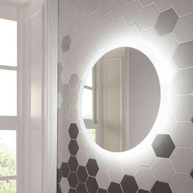 UK Bathrooms Essentials Cornbell 600mm LED Mirror