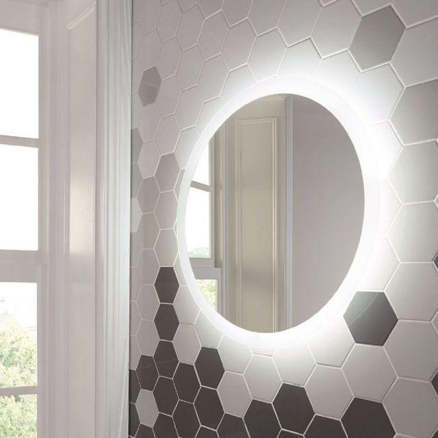 UK Bathrooms Essentials Cornbell 800mm LED Mirror