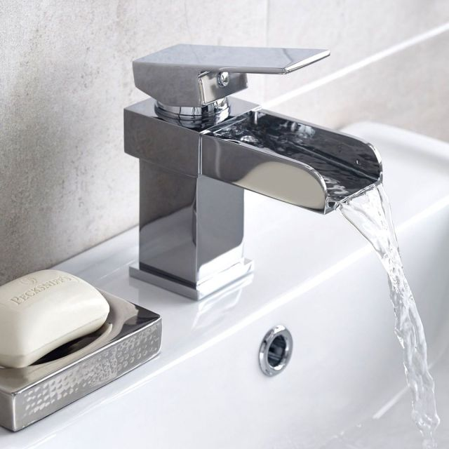 UK Bathrooms Essentials Titian Basin Mixer Tap with Pop Up Waste Set