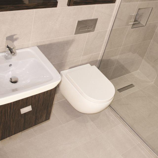 Abacus Opaz Ebony Basin & Vanity Unit 550mm