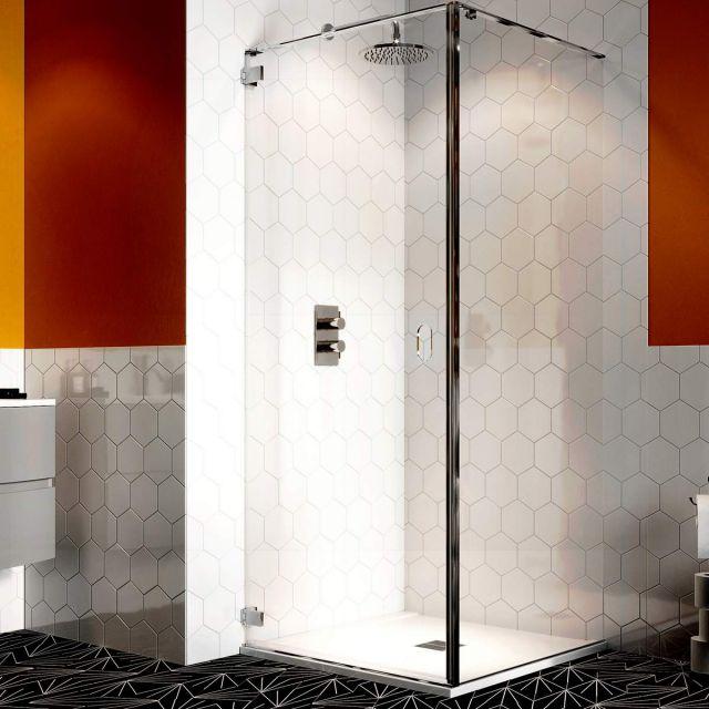 Crosswater Svelte 8 Wall Mounted Hinged Shower Door