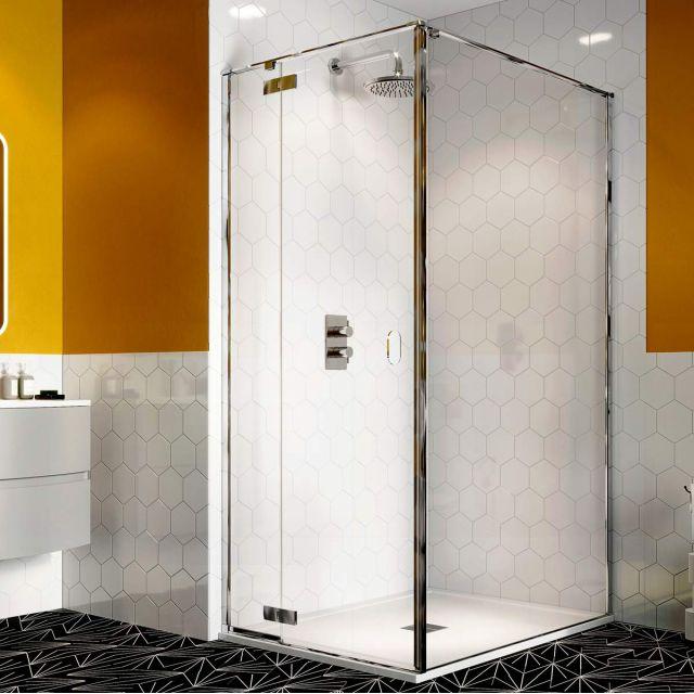 Crosswater Svelte 8 Hinged Door with Inline Shower Panel