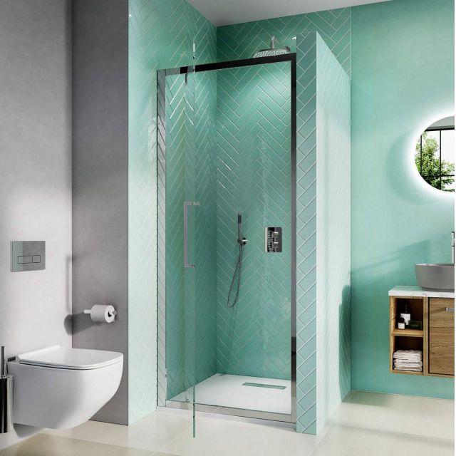 Crosswater Infinity 8 Pivot Shower Door 900mm - IPDSC0900