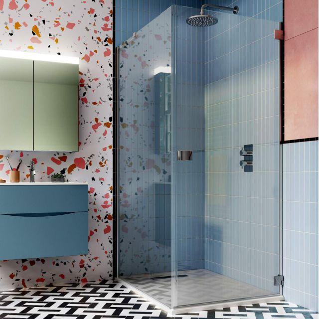 Crosswater Design 8 Hinged Shower Door