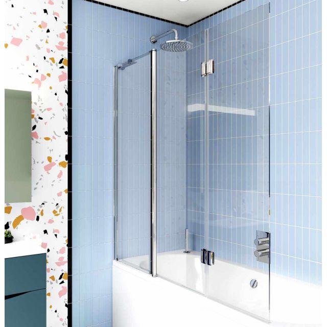 Crosswater Design 8 Triple Panel Bath Screen