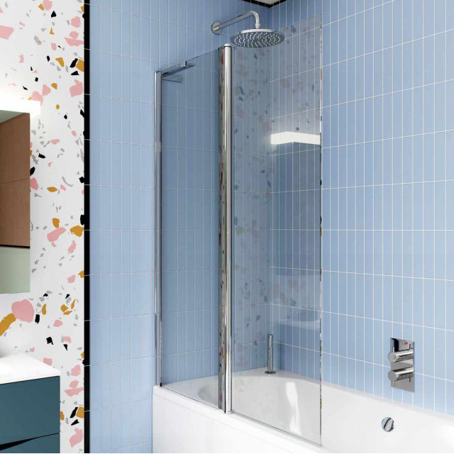 Crosswater Design 8 Double Panel Bath Screen
