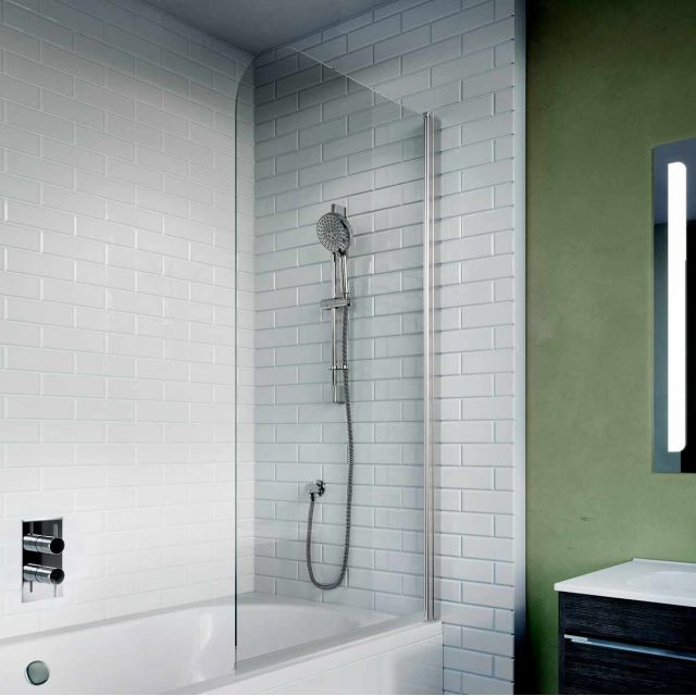 Crosswater Kai 6 Single Panel Bath Screen - KLBSSC0900