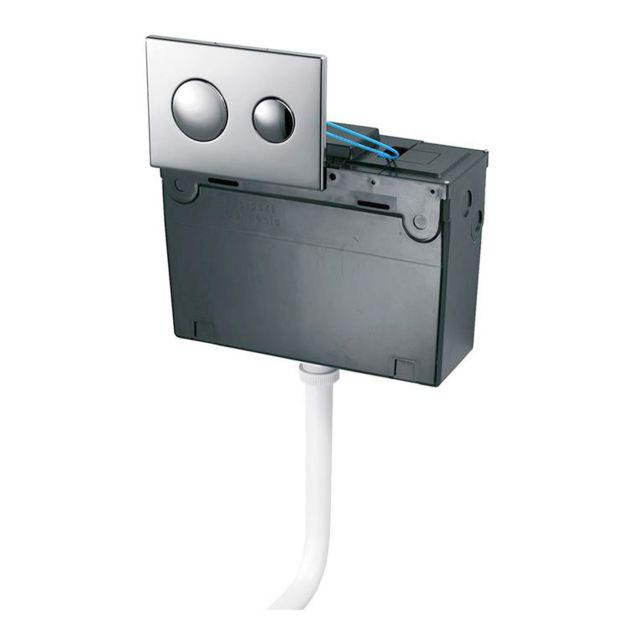 Ideal Standard Conceala 2 Universal Dual Flush Pneumatic Cistern and Chrome Flush Plate - S362467