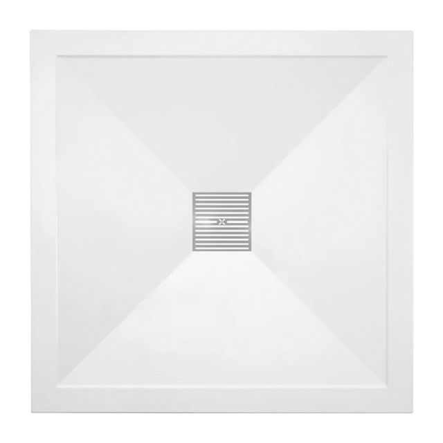 Crosswater (Simpsons) 25mm Stone Resin Square Shower Tray with Waste
