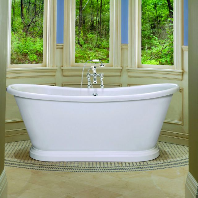 BC Designs Acrylic Boat Bateau Double Ended Bath