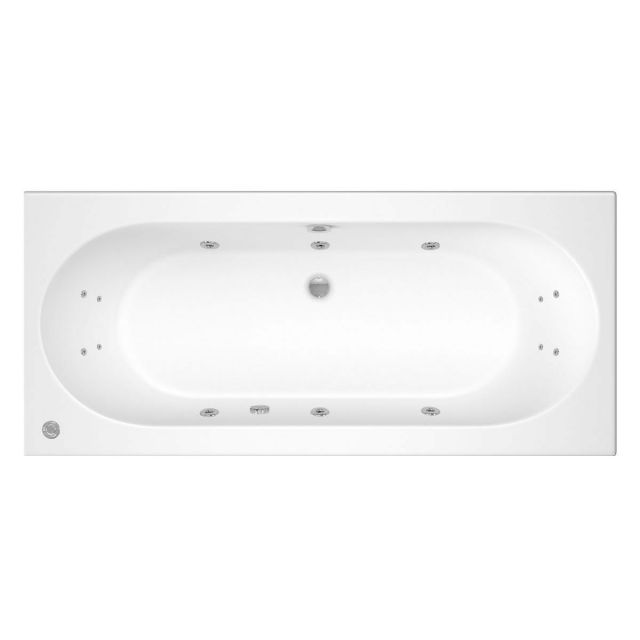 Trojan Cascade 14 Jet Double Ended Whirlpool Bath 1700 x 750