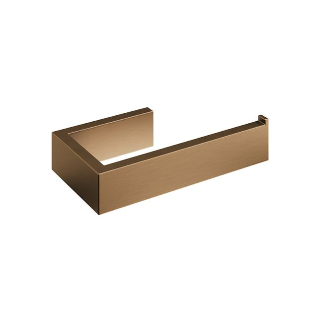 Abacus Pure Brushed Bronze Toilet Roll Holder