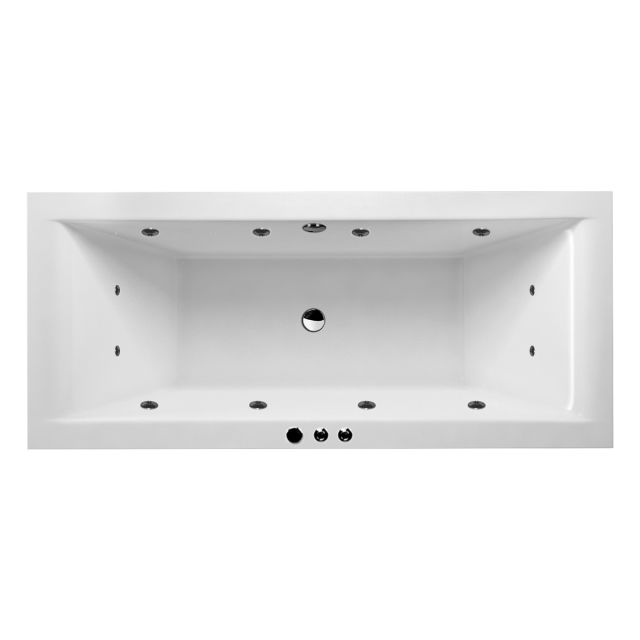 UK Bathrooms Essentials Enviro Clearpool Whirlpool Double Ended Bath