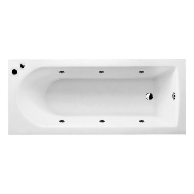 UK Bathrooms Essentials Reuse Clearpool Whirlpool Single Ended Bath