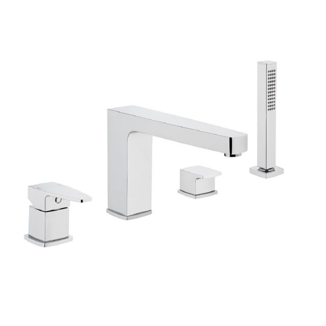 VitrA Q Line 4-hole Bath Shower Mixer Tap With Hand Shower - 42531
