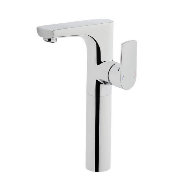 VitrA Sento Tall Monobloc Basin Mixer Tap With Side Lever and Swivel Spout - 42523