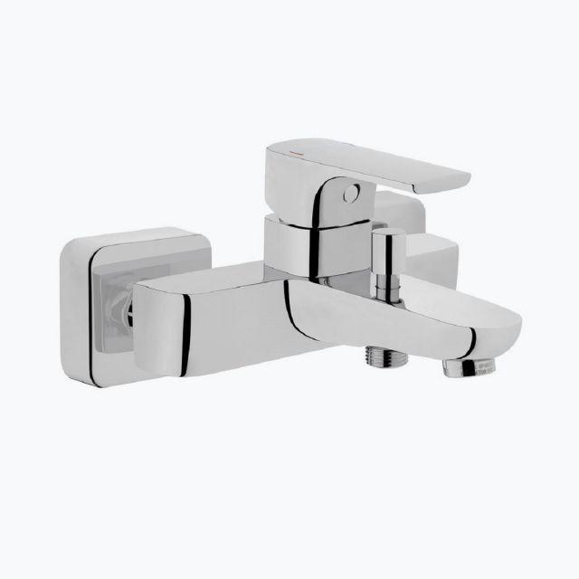 VitrA Sento Wall-Mounted Chrome Bath Shower Mixer Tap - 42516