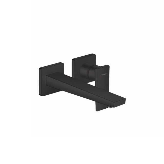 hansgrohe Metropol Wall Mounted Single Lever Basin Mixer Tap in Matt Black - 32526670