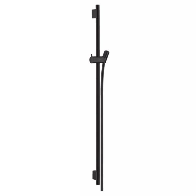 hansgrohe Unica Showerail S Puro with shower hose 90cm in Matt Black
