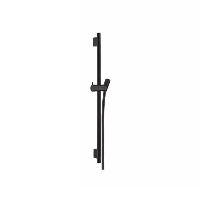hansgrohe Unica Showerail S Puro with shower hose 65cm in  Matt Black