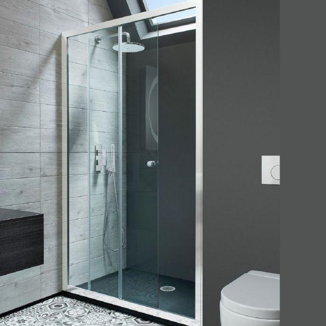 Crosswater Edge Single Slider Shower Door
