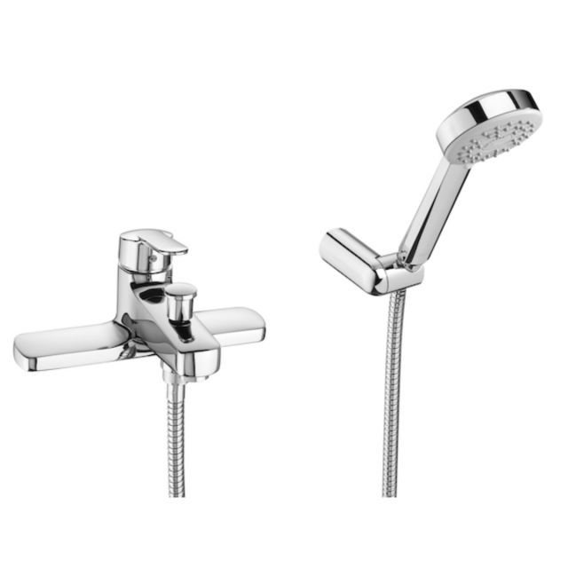 Roca Victoria Deck Mounted Bath Shower Mixer Tap with Handset - 5A1825C00