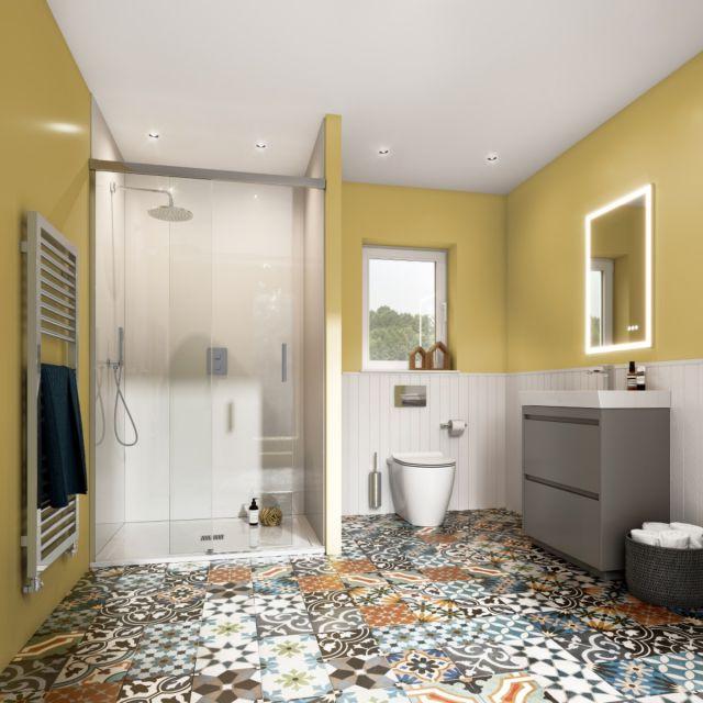 Crosswater Warm and Rustic Main Bathroom Suite