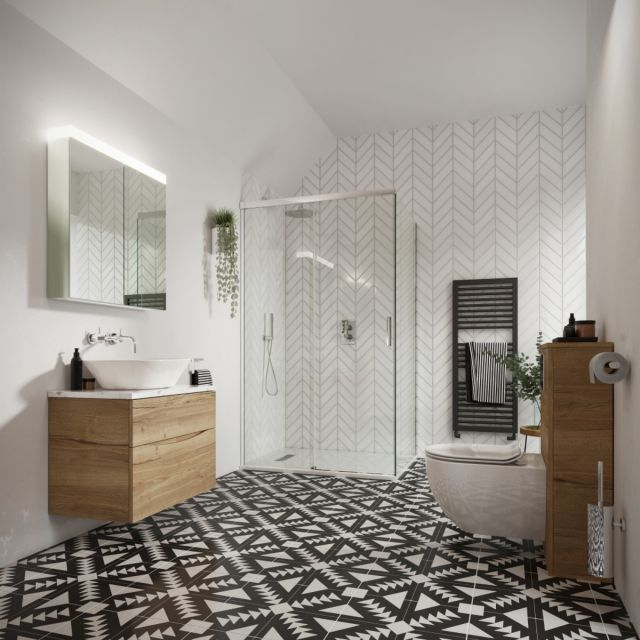 Crosswater Monochrome Main Bathroom Suite